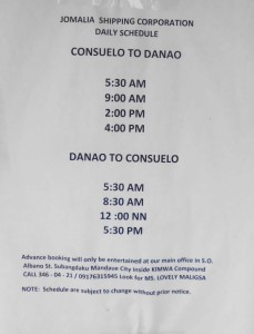Camotes Danao Boat Schedule