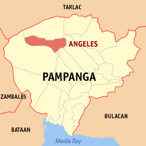 map of pampanga
