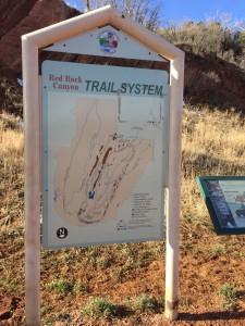 hiking photos - Red Rock Canyon Trail System Sign
