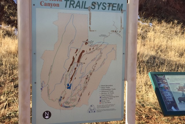 hiking photos - Trail System Sign