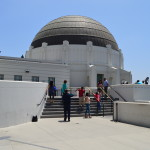 Griffith Park Observatory LA from sideview