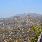 Hollywood sign from Griffith Park Observatory LA