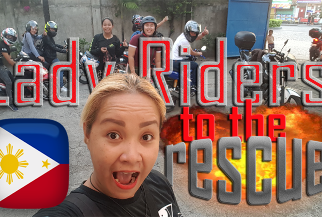 lady riders doing charity in philippines cebu